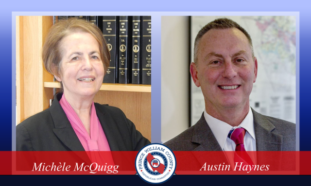 Michele McQuigg and Austin Haynes, candidates for Clerk of Court, 2015