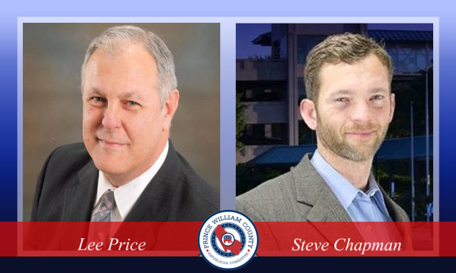 Lee Price and Steve Chapman, candidates for Woodbridge District Supervisor, 2015